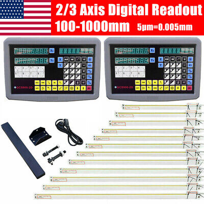 Us 23 Axis Digital Readout Dro Display Linear Scale Encoder For Milling Machine