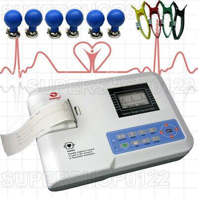Portable Digital 3-channel 12 Leads Electrocardiograph Ecgekg Machine Printer