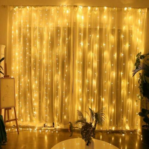 300 LED Xmas Curtain Fairy Hanging String Lights Christmas W