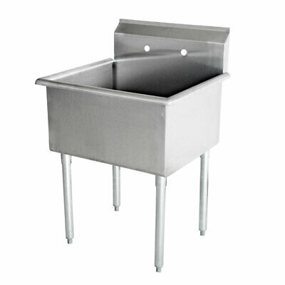 New Commercial Stainless Steel 18 X 181 One Compartment Budget Sink 18 Ga