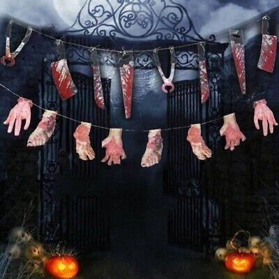 Gruselig Halloween Party Spukhaus Wandbehang Girlande Wimpel Banner - Halloween Gruselig Haus