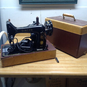 Antique tabletop singer sewing machine