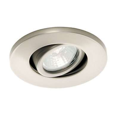 WAC Lighting Low Voltage Mini Recessed Task Light, Brushed Nickel - HR-1137-BN