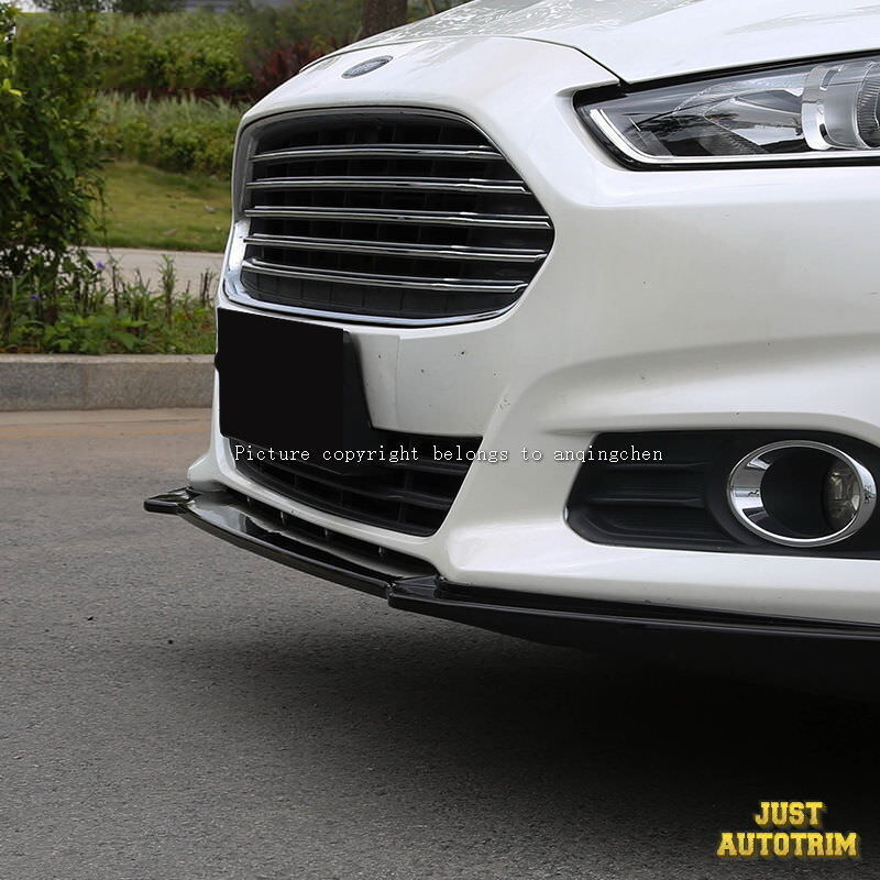 Black Piano paint front bumper Lip Spoiler for 2013-216 ford fusion Accessories