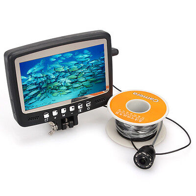 "4.3"" TFT Monitor Underwater Camera Ice/Sea/Boat Fish Finder Easy-Rod-install 15M"