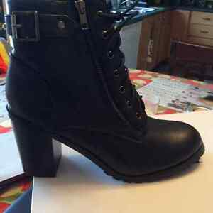 Brand new/never worn black zip/lace up boots $25 St. John's Newfoundland image 2