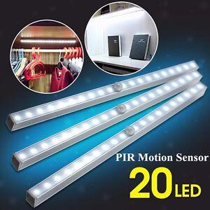 20leds Portable Wireless Motion Sensor Closet Under Cabinet Night Light Lamp