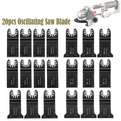 20pcs Oscillating Multi Tool Saw Blade Kit For Bosch Fein Milwaukee Makita
