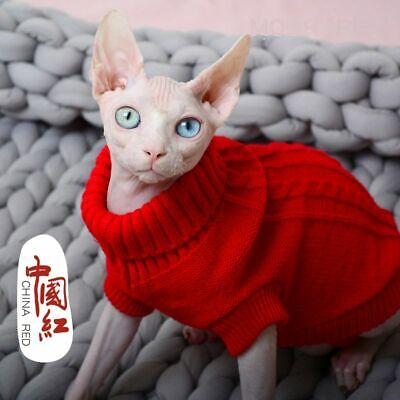Sweater For Cats Cat Clothing Cat Jumper For Cornish Rex Sphynx Shorthair Cat