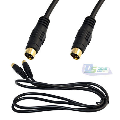 1.5m / 5ft S-Video 4-Pin Male to Male Plug Adapter Converter Connector Cable New for sale  Shipping to Canada
