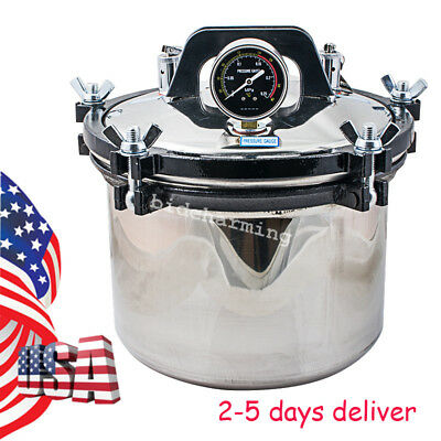 Usa 8l Medical Dental Steam Autoclave Sterilizer High Pressure Sterilization Fda