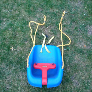 Baby swing for outdoor set- little tikes