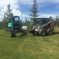 Landscaping Construction Owner Operated - bobcat and mini-hoe