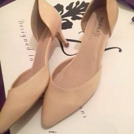 BHS Profile Heels Size UK 6 Eu/39 Colour Blush Pink Women Shoes Kitty Heels *Worn Once indoors*