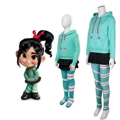 Wreck It Ralph Vanellope Cosplay Costumes Hoodie Skirt Leggings Adult Kid Outfit - Wreck It Ralph Outfit