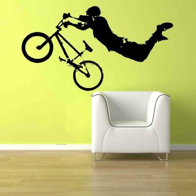BMX Vinilo Adhesivo Pared Dormitorio de Niños Ropa Cama Lindo Bicicleta SPORTS