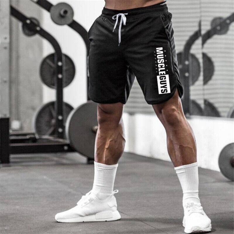 Shorts Para Hombre Pantalones Cortos De Moda Gimnasio Deporte Ejercicio Correr Ebay