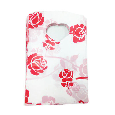 100PCS Pretty Pattern Gift Bag Plastic Jewelry Bag Party Wedding For Sale JH