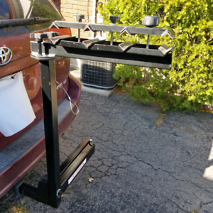 Trailer Hitch Swivel Bike Rack Holds 4 Bicycles