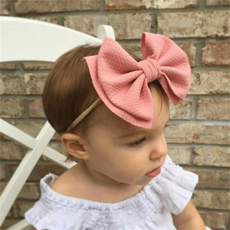 2020 Kid Girl Baby Headband Toddler Nylon Big Bow Hair Band Accessories Headwear Baby