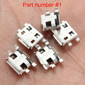 Micro USB replacement ports  5Pin 2 & 4 Legs - for DIY repairs