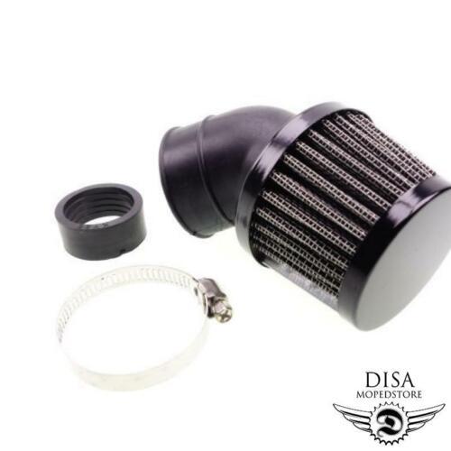 28mm 45 Grad Luftfilter Tuning Renn Sport Mofa Moped Mokick Roller NEU *