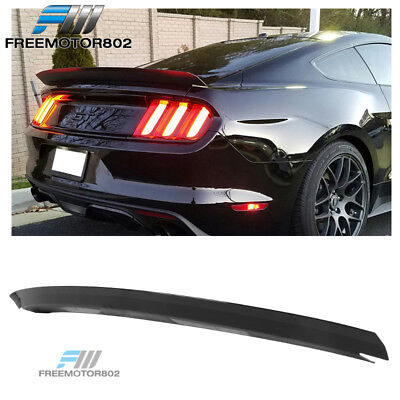Fits 15-19 Ford Mustang R Style Rear Trunk Spoiler Wing Lip Glossy Black ABS
