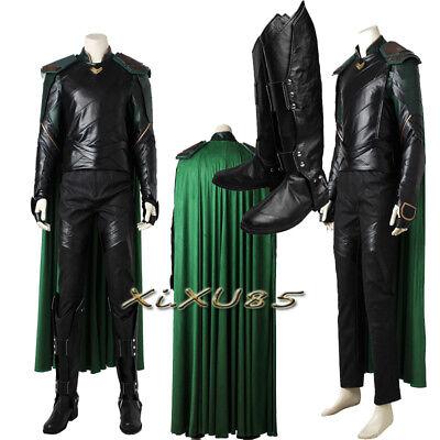 Costum Made THOR 3 Ragnarok Loki Cosplay Costume Boots Gloves Halloween Clothes (Thor Loki Halloween Costume)