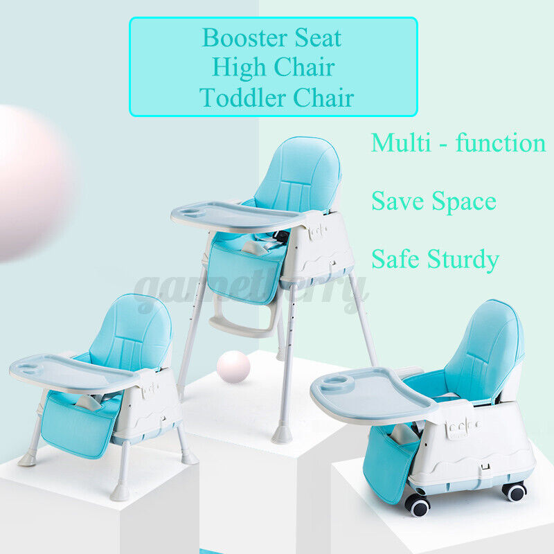 3 in 1 Baby Toddler High Chair Adjustable Height Play Table Eating Feed Seat US