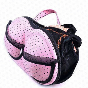 **BRAND NEW** Lace Pink Dotted Bra/Panties Bag Organizer
