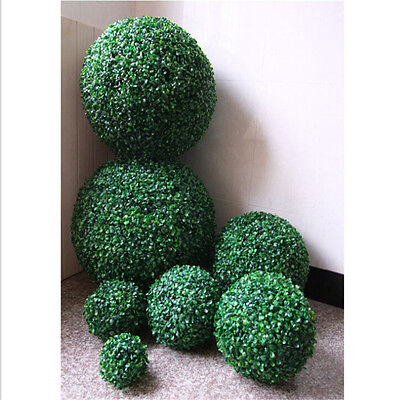 - ARTIFICIAL BUXUS BALL BOXWOOD HANGING TOPIARY GARDEN FAKE POTS GRASS DECOR 1PC