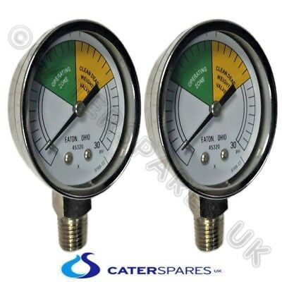 2 X Hp16910 Henny Penny Chicken Fryer Pressure Gauge Clock Fastron Comp 8000