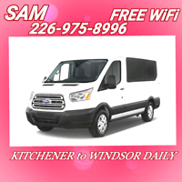 FREE Wifi- KITCHENER to WINDSOR- SATURDAY 23rd at 10:20-AM