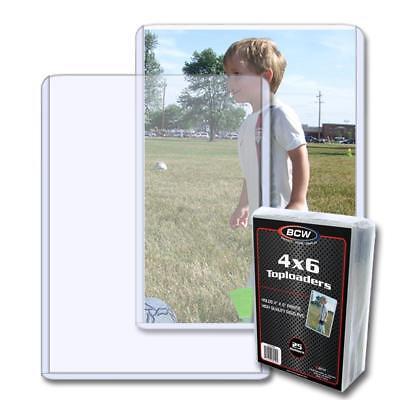 25 BCW 4 x 6 POSTCARD / PHOTO RIGID HARD PLASTIC TOPLOAD HOLDERS 4x6