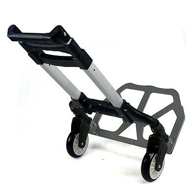 170Lbs Folding Luggage Trolley Cart Aluminium Hand Collapsible Dolly Push Truck