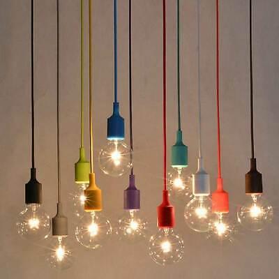 Industrial Edison Bulb LED Single Hanging Light Fixtures Ceiling Pendant Lamp