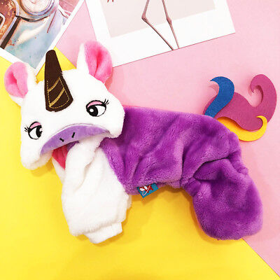 Unicorn Dog Costume for Small Pet Puppy Cat Apparel Winter Clothing Holiday /A6 - Cat Costume For A Dog