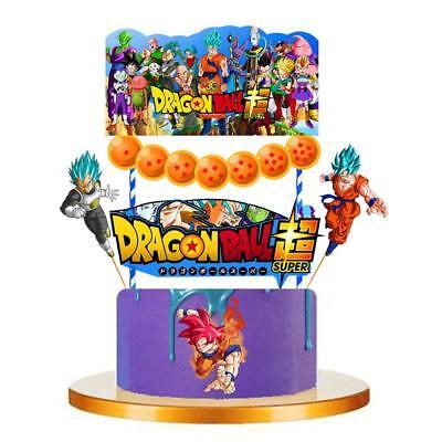 DRAGON BALL SUPER BANNER CUPCAKE Balloon DRAGONBALL CAKE TOPPER TOPPERS - Dragon Balloons