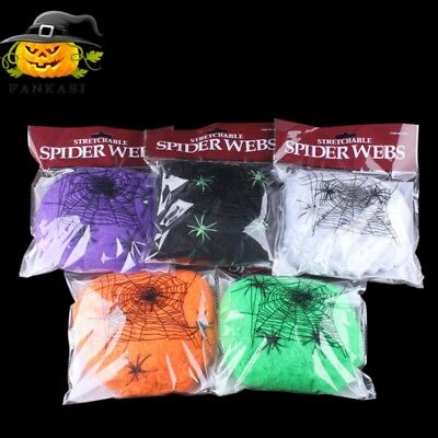 Halloween Spider Web Scary Party Scene Props Stretchy Cobweb Home Bar Decor Top](Halloween Scary Scene)