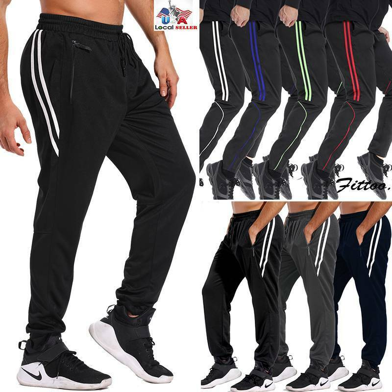 Men's Slim Fit Tracksuit Gym Sport Skinny Jogging Joggers Sw