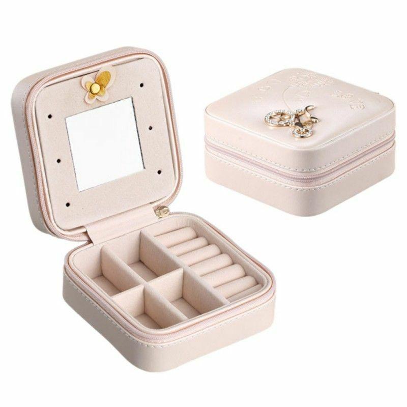 Mini Storage Box Travel Organizer For Jewelry Small Portable Case Jewelry & Watches