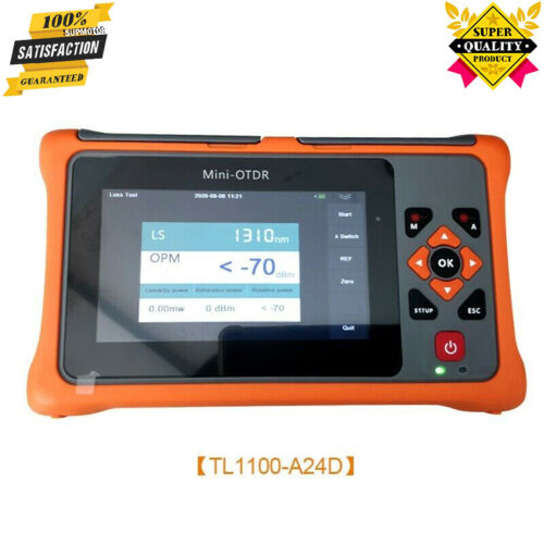 TL1100-A24D 1310/1550NM OTDR Tester Time Domain Reflectometer For Optic Fiber