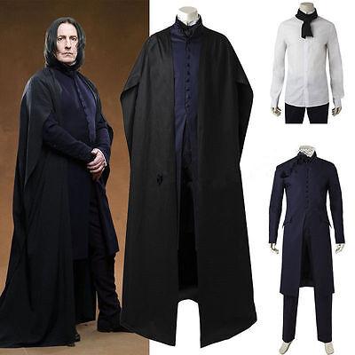 Harry Potter Severus Snape Mantel Umhang Kostüm Robe Cosplay Kostüm Costume neu