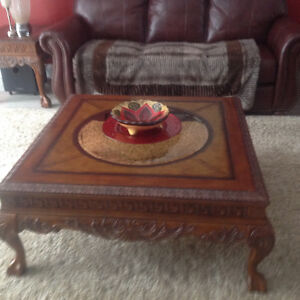Solid Mahogany Cofffee and Two End Tables