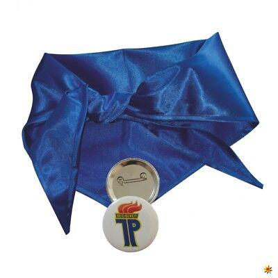 Halstuch Jung Pionier blau inkl. Anstecker DDR Mottoparty Ostalgie