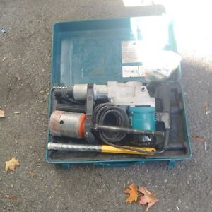 """makita concrete rotary drill with 4""""core bit and other bits"""
