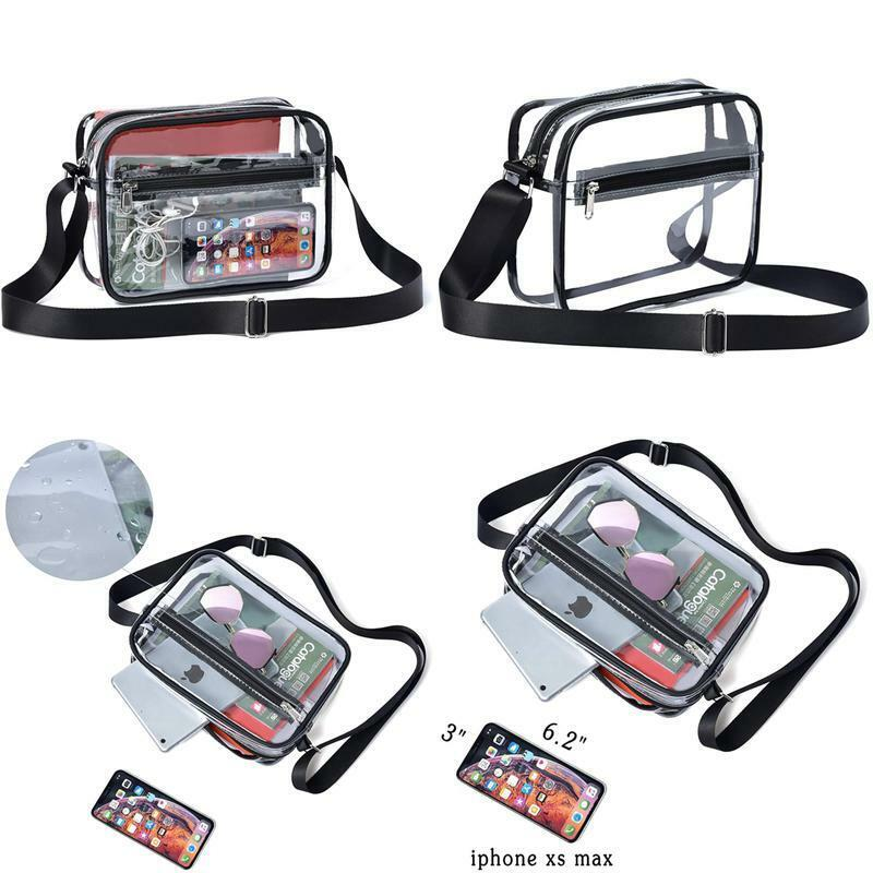 May Tree Clear Crossbody Messenger Shoulder Bag Stadium Appr