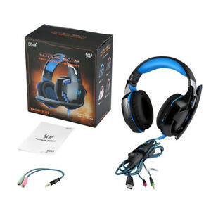 NEW GAMING HEADSET HEADPHONE MIC PC  MAC PS4 XBOX ONE 360 G2000
