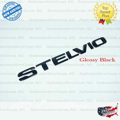 OEM Alfa Romeo Stelvio Emblem Glossy Black Logo Trunk Lid Emblem Badge Sticker