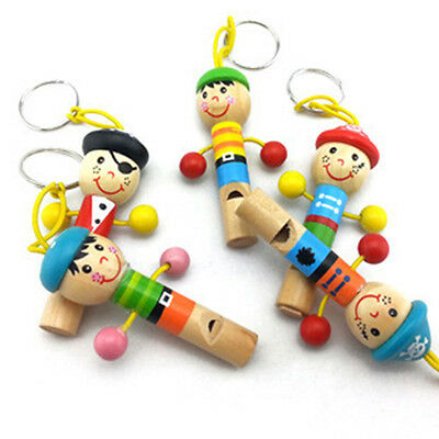 - Funny Baby Kids Wooden Whistle Pirates Developmental Toy Kids Musical Gift Hot